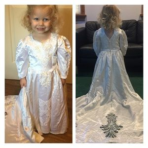 Wedding Dress and Veil Halloween Costume 3T